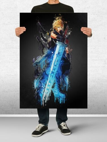Final Fantasy Poster Art Print Watercolor Wall Decor Game Print Poster Gift n9