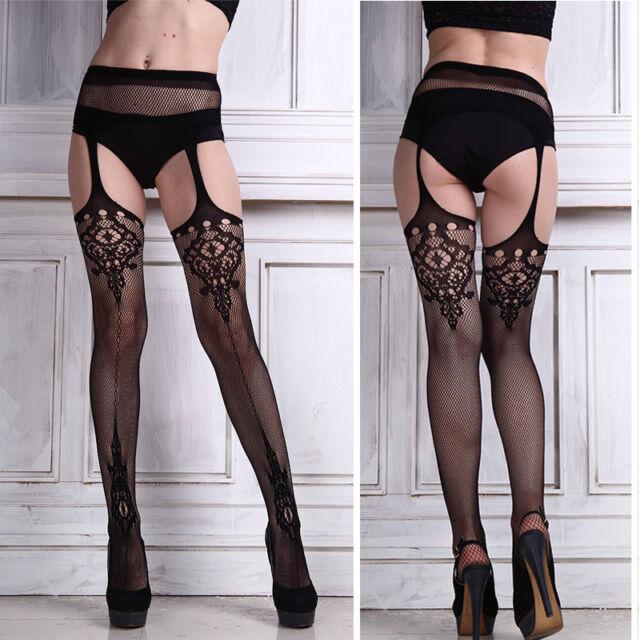 Fashion Sexy Ladies Black Lace Thigh-Highs Leggings Stockings Garter Belt Socks