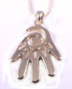 Hamsa-Judaica-Necklace-Pendant-Kabbalah-Evil-Eye-Hand-Of-Fatima-Spiral-gold