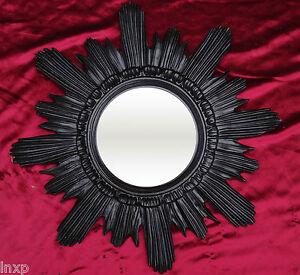 BAROQUE ANTIQUE Miroir mural soleil en noir 42x42 cm rond circulaire REPRO 14 q7gOeSga-07195622-362769572
