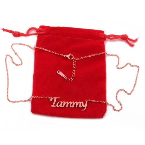 Collar de nombre Tammy-Personalizado-Chapado en Oro 18ct-Navidad Navidad Regalos