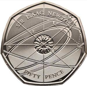 SIR-ISAAC-NEWTON-2017-50p-Coin-2nd-RARE-Uncirculated-Brilliant-Mint-Full-Lustre