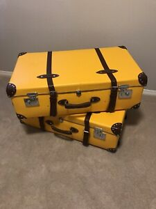 "GLOBE TROTTER Yellow Centenery 32"" Suitcase"