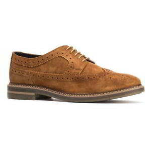 Base-London-Turner-Mens-Brown-Suede-Leather-Country-Brogues-Shoes-Size-8-11