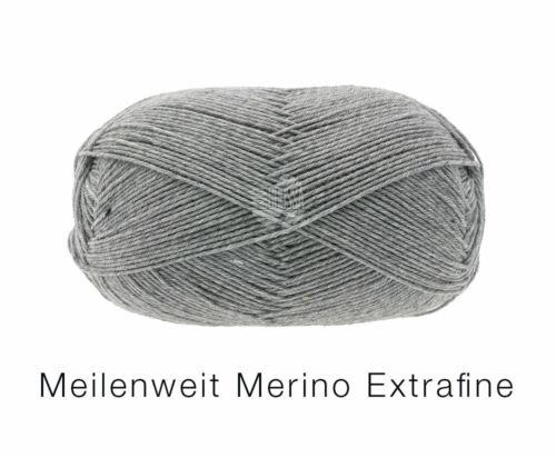 Lana Grossa Wolle Kreativ Meilenweit 100 Merino Extrafine Uni 2404 100g Fb