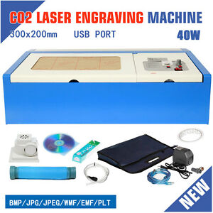 40w Co2 Usb Port Laser Engraver Cutter Engraving Cutting