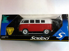 SOLIDO RED AND WHITE PANEL VAN VW Beetle BUS 1:18 SCALE