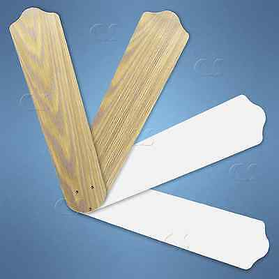 """4-Pack Replacement Blades for 52"""" Ceiling Fan Antiqued Oak / White _328-B08"""