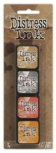 Tim Holtz ~ DISTRESS MINI INKS ~ Set 7 ~ 4 Pads ~ Ranger