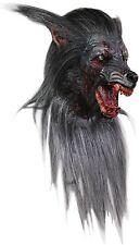 Halloween LifeSize Costume BLACK WOLF LATEX DELUXE MASK Haunted House