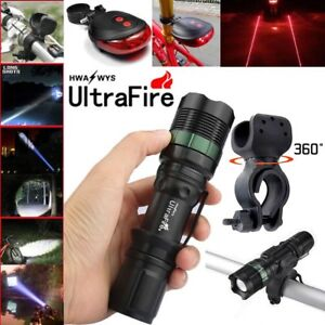 50000LM-Zoomable-LED-T6-LED-Flashlight-Torch-Bike-Holder-For-Ultrafire-Torch