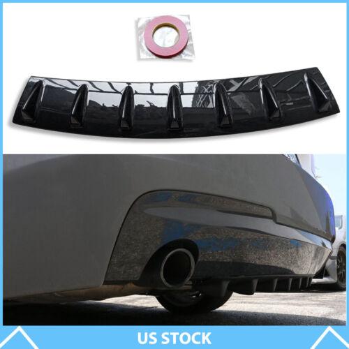 "33/"" x6/"" Shark Fin Universal Rear Bumper Lip Diffuser 7 Fin Gloss Black ABS"