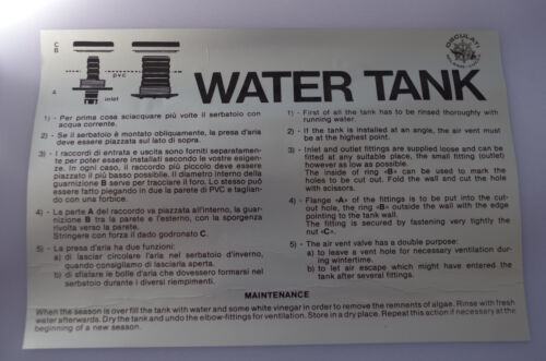 Réservoir D/'eau Douce Souple 100 Litres Neuf