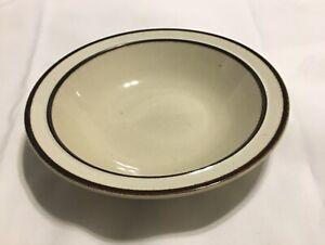 VTG-Sango-Rainbow-Stoneware-CAPRI-651-Soup-Cereal-Bowl-7-1-2-Brown-Trim