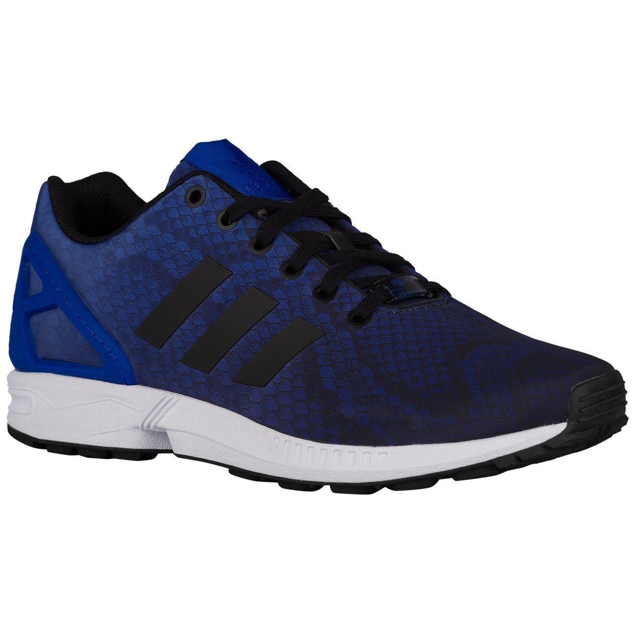 NUOVI Pantaloncini Adidas Uomo Adidas Pantaloncini Flux serpente stampato in esecuzione scarpe da training TAGLIA: 10.5 colore: Blu cb0e4c