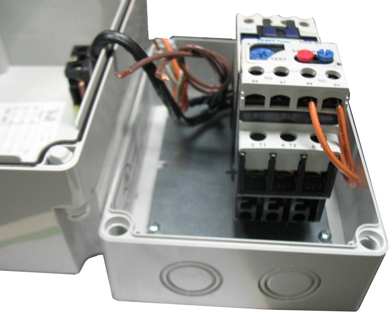Elimia HOA 4-6-120LC 3 HP 480V or 1 HP 230V Magnetic Motor Starter Nema 4X