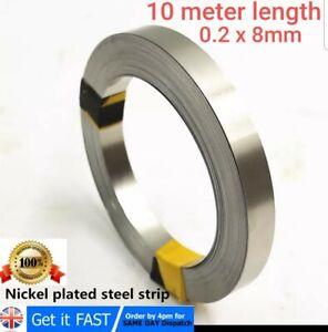 6m Length 0.2*8 mm  Ni Plate NickelStrip TapeFor Li 18650 Battery Spot Welding