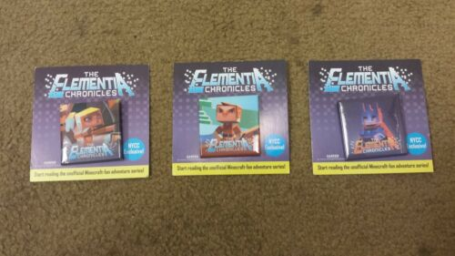 New York Comic Con 2015 - NYCC 2015 The Elementia Chronicles - Minecraft Buttons