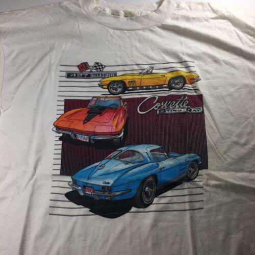 Vintage Corvette T-Shirt XXL, 427 Turbo Jet, White - image 1