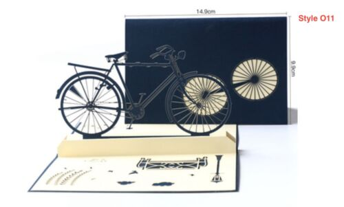 3D Pop Up Card Special Occasion Hobby Birthday Fun Cycling Bike O11