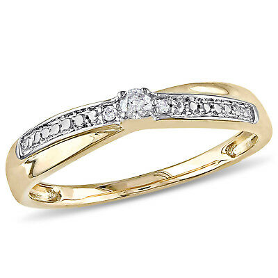 Amour Diamond Promise Ring in 10k Yellow Gold