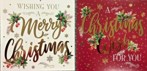 12 Xmas Noël Cartes /& Enveloppes 2 Designs Per Pack Neuf Bonne Qualité Cartes