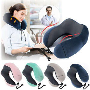 Memory-Foam-U-shaped-Travel-Pillow-Neck-Support-Head-Rest-Airplane-Soft-Cushion