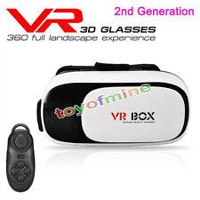 2nd Gen VR BOX Google Cardboard Virtual Reality 3D Glasses + Bluetooth Control