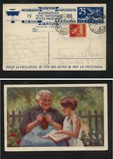 Switzerland  uprated  airmail postal card, 1928           MS0115