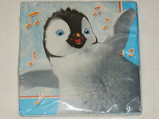 HAPPY FEET -TWO-   16-PAPER LUNCH NAPKINS,  BIRTHDAY-CHILD   PARTY SUPPLIES