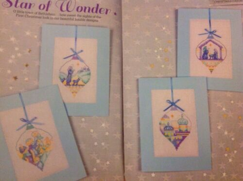 Star Of Wonder Nativity Scene Bauble Cards Christmas Cross Stitch Chart X3