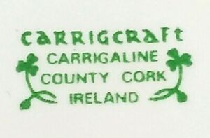 "Irish Carrigcraft Art Pottery China Creamer Carrigaline County Cork Ireland 4"""