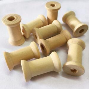 20pcs Wooden Empty Thread Spools Reels Bobbins for Sewing Ribbons 27X16mm
