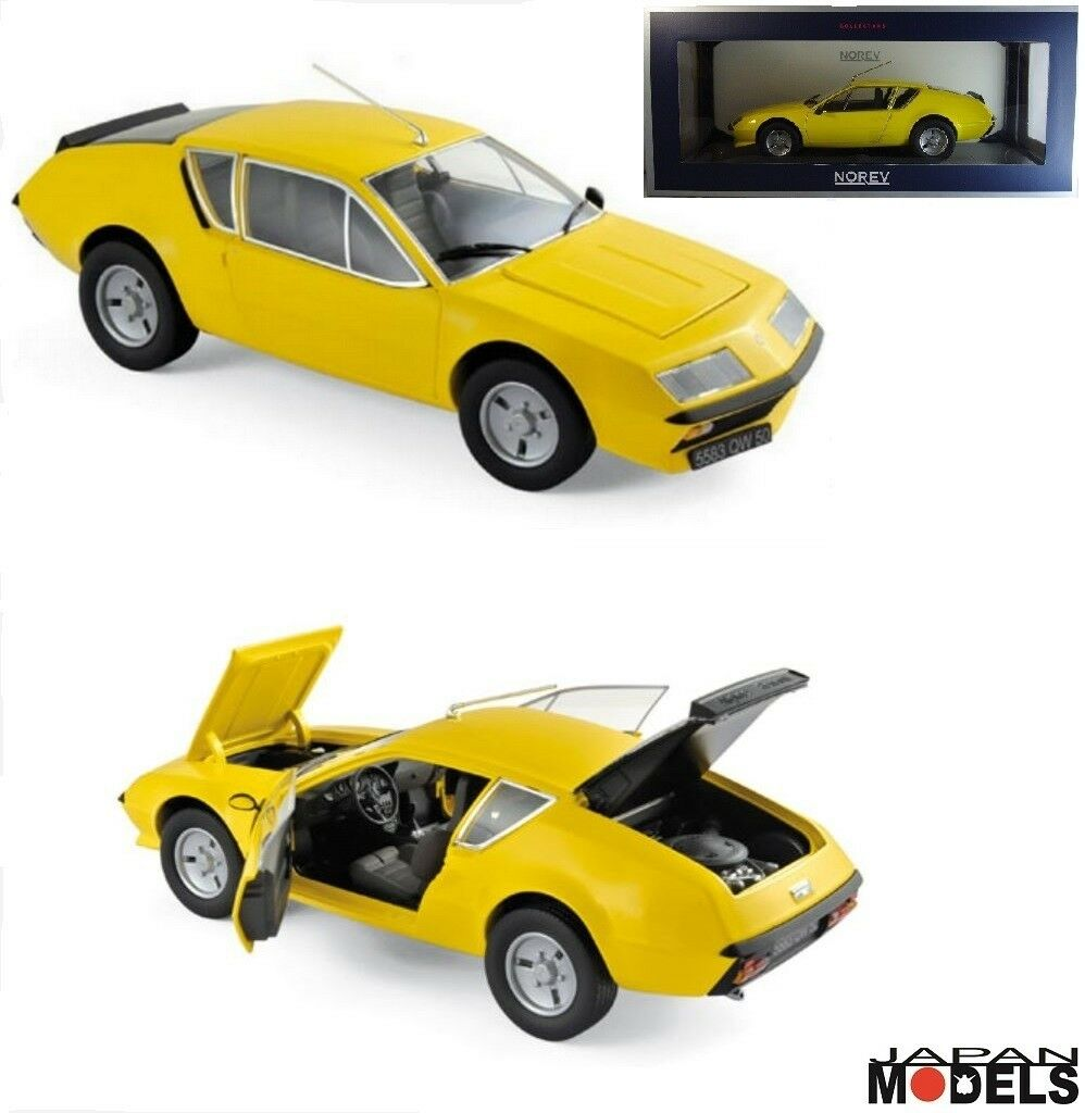 RENAULT ALPINE A310 1977 YELLOW Norev 18143 Collectors Die Cast 1 18 Nuovo New