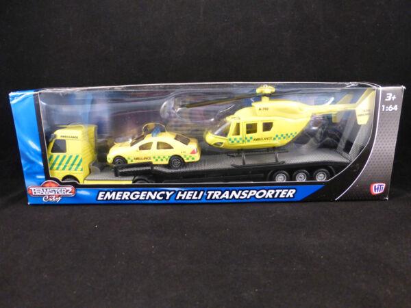 Cerca Voli I Servizi Di Emergenza Transporter, Auto E Elicottero Set-polizia Fuoco O Ambulanza