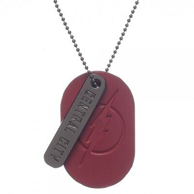 DC Comics Flash PU Leather & Metal Dog Tag Necklace BW-75111