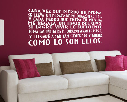 Vinilo decorativo #240#  CORAZÓN DE PERRO