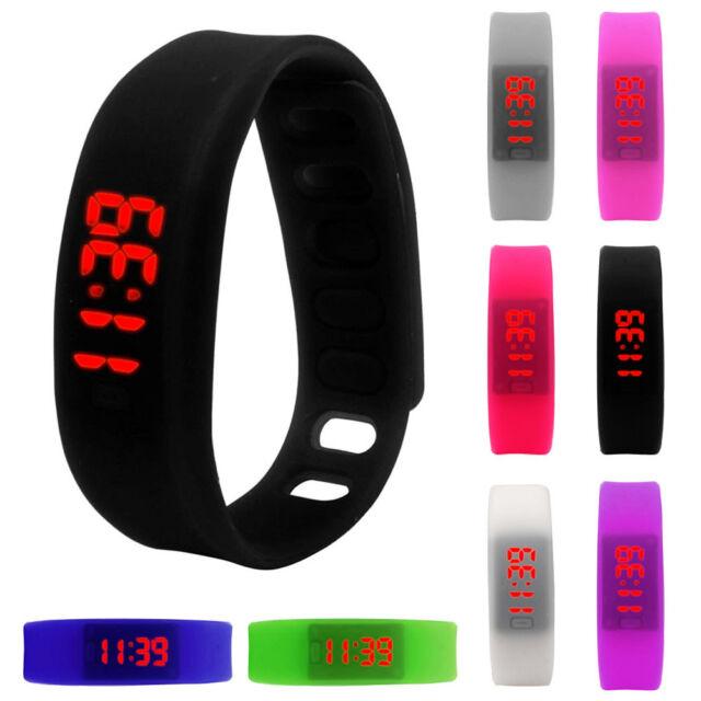 2015 Womens Mens Digital Rubber LED Watch Date Sports Bracelet Wrist Watch Gift