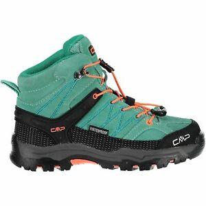 Cmp Trekking Chaussures Outdoorschuh Kids Rigel Mid Trekking Shoes Wp Turquoise-afficher Le Titre D'origine AgréAble Au Palais