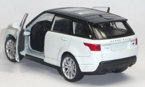 Modellauto Range Rover Sport ca NEU 11,5cm weiß Neuware von WELLY