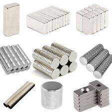Lot 50 100 Pcs Round Disc Block Magnets Cylinder Rare Earth Neodymium N52 N48