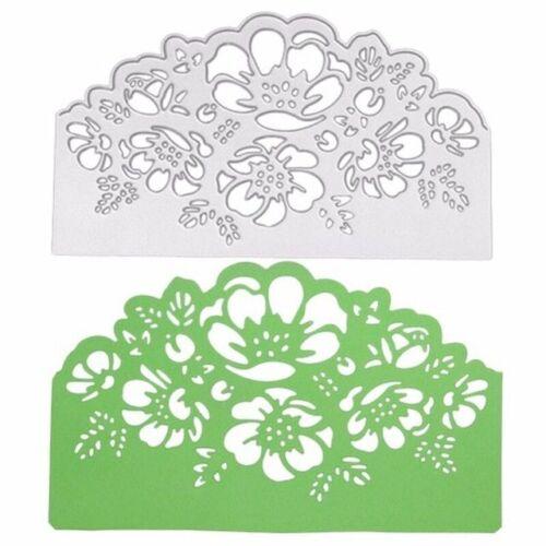 Lace Flower Edges Vines Metal Cutting Dies Scrapbooking Embossing Card Craft