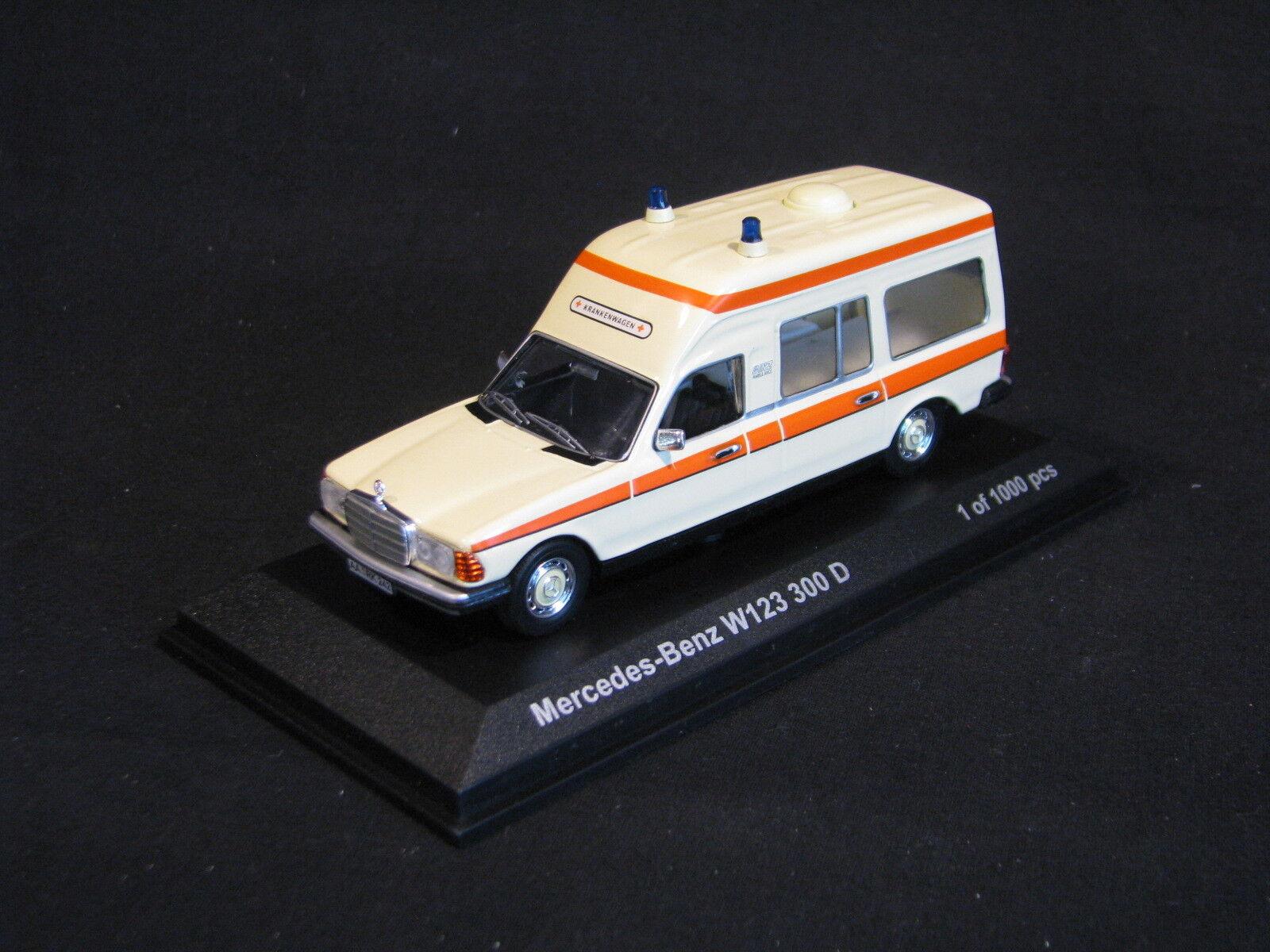 Norev Mercedes-Benz 300D W123 1 43 Ambulance (GER) (JS)