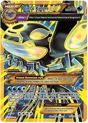 Pokemon TCG XY ANCIENT ORIGINS : PRIMAL KYOGRE EX 96/98 FULL ART GOLD