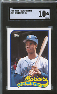 1989 Topps Traded Tiffany Ken Griffey Jr. Rookie Card (RC) SGC 10 ~Comp. to PSA~