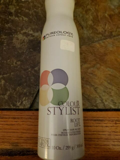 PUREOLOGY COLOUR STYLIST ROOT LIFT SPRAY HAIR MOUSSE 10oz ...