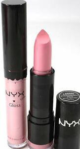 NYX-Lipstick-amp-Lipgloss-Round-595-STRAWBERRY-MILK-amp-15-BABY-PINK-new-makeup