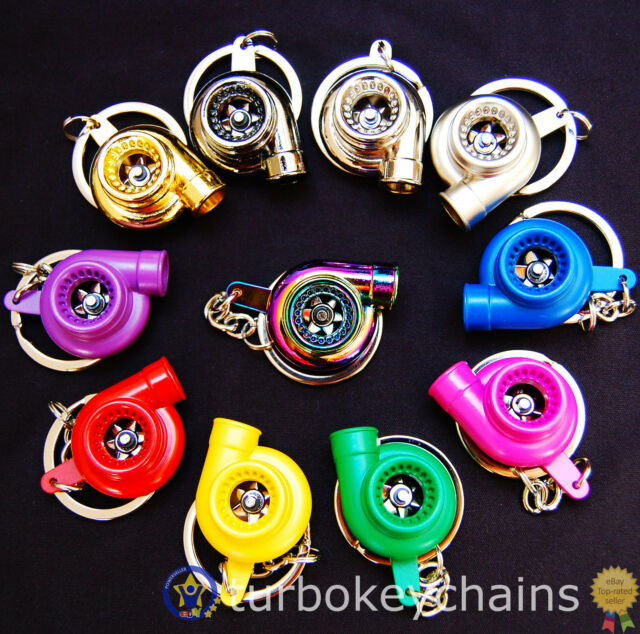 Turbo Charger Keychain Keyring Choice of Colours See Video!