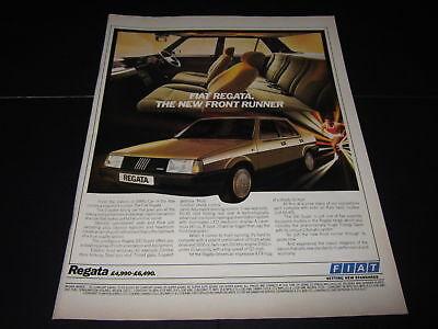 Bright Fiat Regata Advert Matching In Colour Advertising British