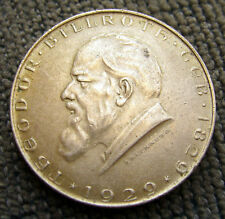 1929 Austria 2 Schilling Theodor Billroth Coin